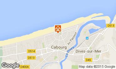 Map Cabourg Studio apartment 10765