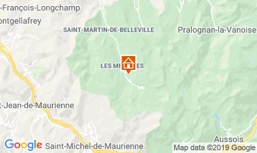 Map Les Menuires Apartment 107600
