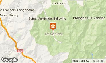 Map Les Menuires Chalet 102207