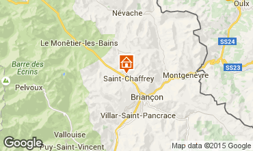 Map Serre Chevalier Self-catering property 75303