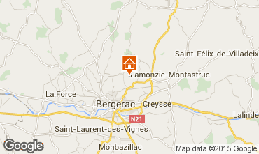 Map Bergerac Self-catering property 97571
