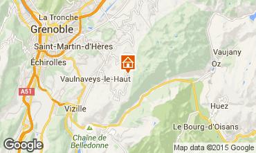 Map Chamrousse Studio apartment 28307