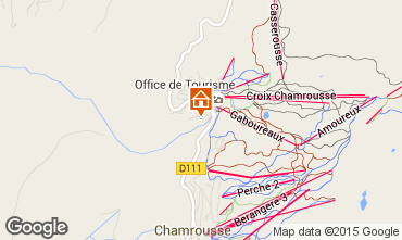 Map Chamrousse Studio apartment 28307