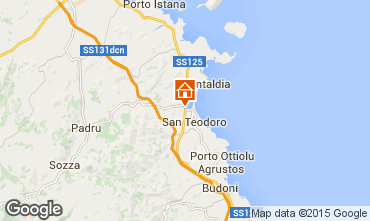 Map San Teodoro Apartment 71515