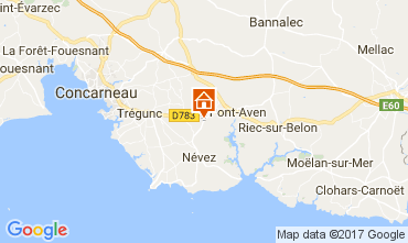 Map Pont Aven Mobile home 92880