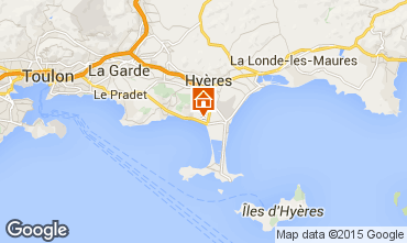 Map Hyères Apartment 50543