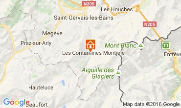 Map Les Contamines Montjoie Chalet 107147