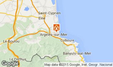Map Argeles sur Mer Apartment 69387