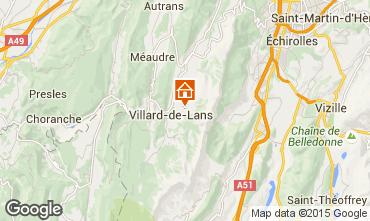 Map Villard de Lans - Corrençon en Vercors Chalet 3641