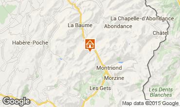 Map Saint Jean d'Aulps- La Grande Terche Apartment 38397