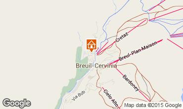 Map Cervinia (Breuil) Studio apartment 71065