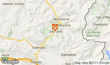 Map Les Gets Apartment 65782