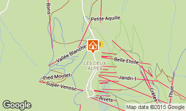 Map Les 2 Alpes Studio apartment 73843