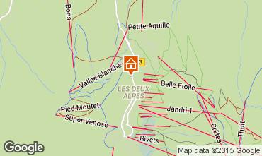 Map Les 2 Alpes Studio apartment 73843