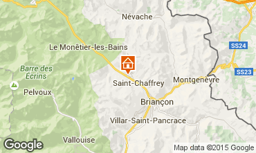 Map Serre Chevalier Chalet 30547