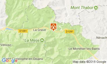 Map Villar-d'Arêne Chalet 113346