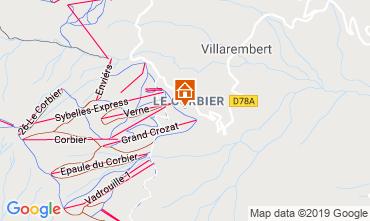 Map Le Corbier Apartment 1005