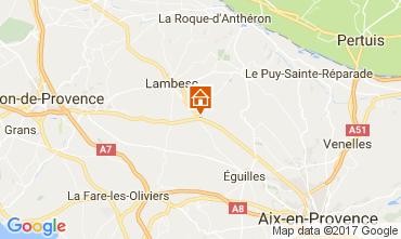 Map Aix en Provence Villa 108314
