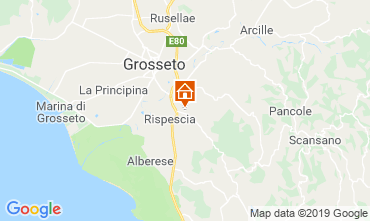 Map Grosseto Villa 40862