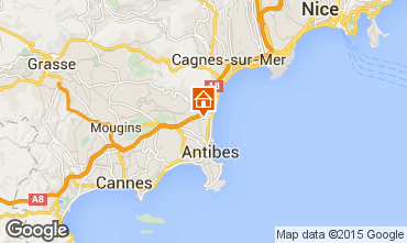 Map Antibes Studio apartment 82540