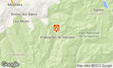 Map Pralognan la Vanoise Chalet 44318
