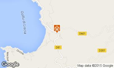 Map Calcatoggio Apartment 31870