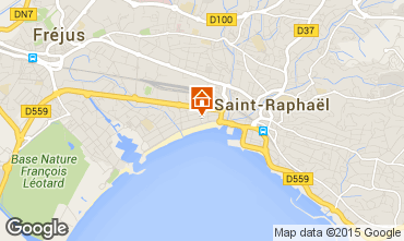 Map Saint Raphael Studio apartment 8501