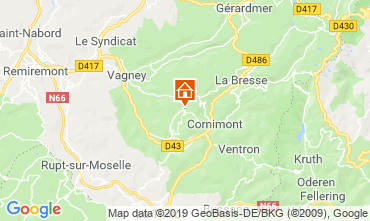Map La Bresse Self-catering property 117618