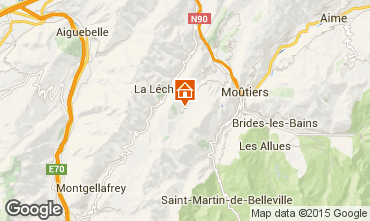 Map Valmorel Self-catering property 73377