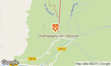 Map Champagny en Vanoise Apartment 579