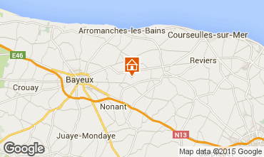 Map Bayeux Self-catering property 78404