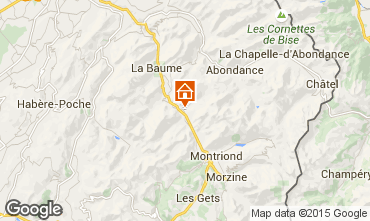 Map Morzine Apartment 50525