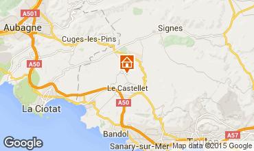 Map Le Castellet Villa 79364