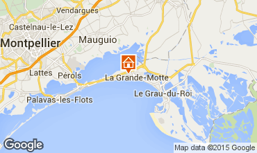 Map La Grande Motte Studio apartment 31444