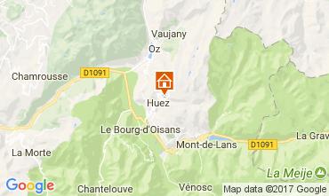 Map Alpe d'Huez Studio apartment 93111