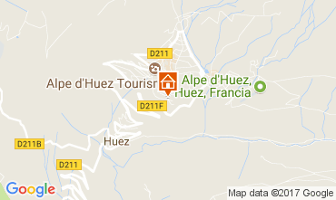 Map Alpe d'Huez Studio apartment 93111