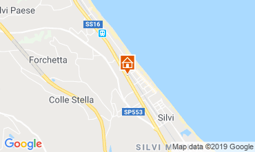 Map Silvi Marina Studio apartment 118759