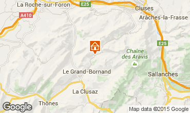 Map Le Grand Bornand Chalet 94809