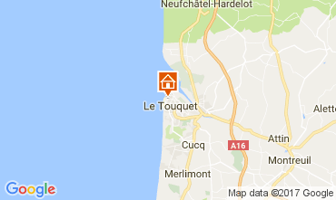 Map Le Touquet Apartment 62697