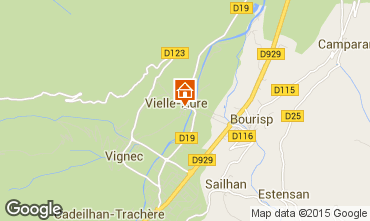 Map Saint Lary Soulan Self-catering property 72319