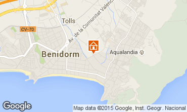Map Benidorm Apartment 60317