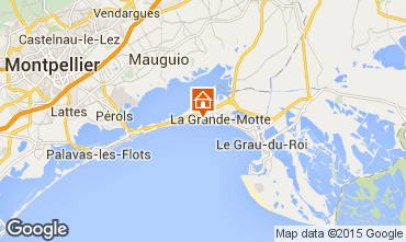 Map La Grande Motte Studio apartment 70311