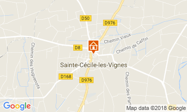 Map Sainte-Cécile-les-Vignes Self-catering property 113447