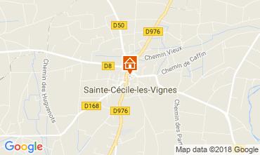 Map Sainte-Cécile-les-Vignes Self-catering property 113447