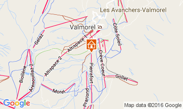 Map Valmorel Apartment 37079