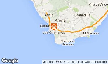 Map Los Cristianos Apartment 88879