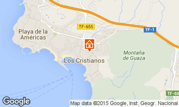 Map Los Cristianos Apartment 88879