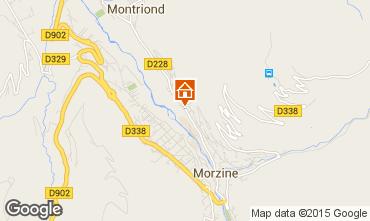 Map Morzine Flat 1957