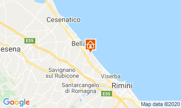 Map Bellaria Igea Marina Apartment 84582