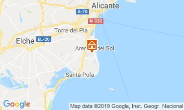 Map Alicante Apartment 112598